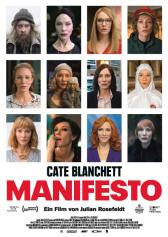 """Filmplakat zu """"Manifesto""""   Bild: DCM"""