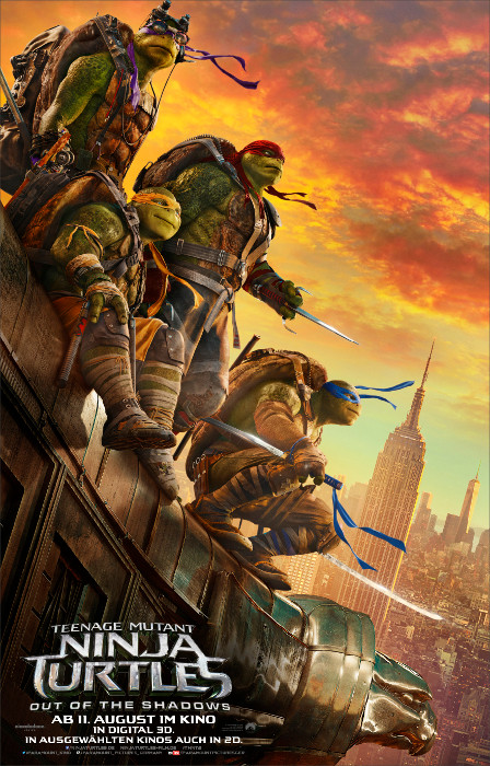 "Filmplakat zu ""Teenage Mutant Ninja Turtles: Out of the Shadows"" 