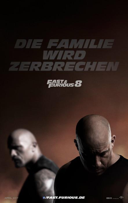 "Filmplakat zu ""Fast & Furious 8"" | Bild: UPI"