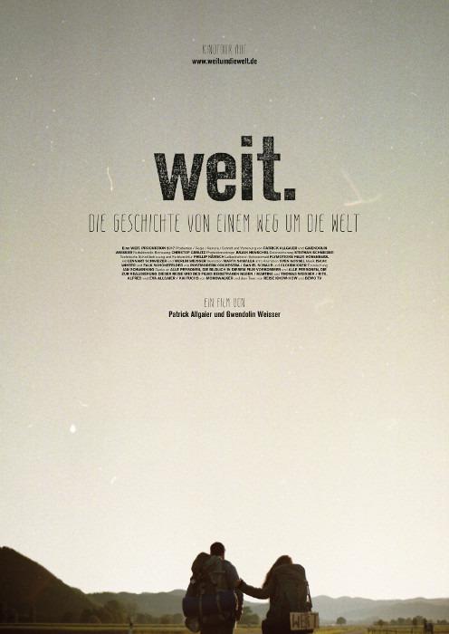 """Filmplakat zu """"WEIT. Die Geschichte von einem Weg um die Welt... """"   Bild: Filmagentinnen"""