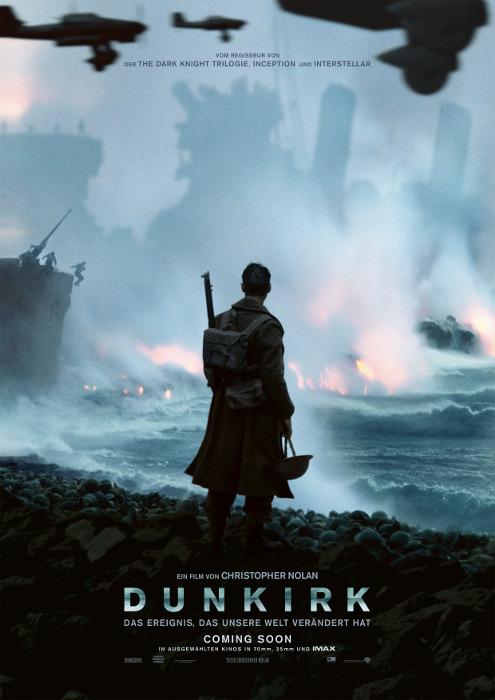 """Filmplakat zu """"Dunkirk""""   Bild: Warner"""