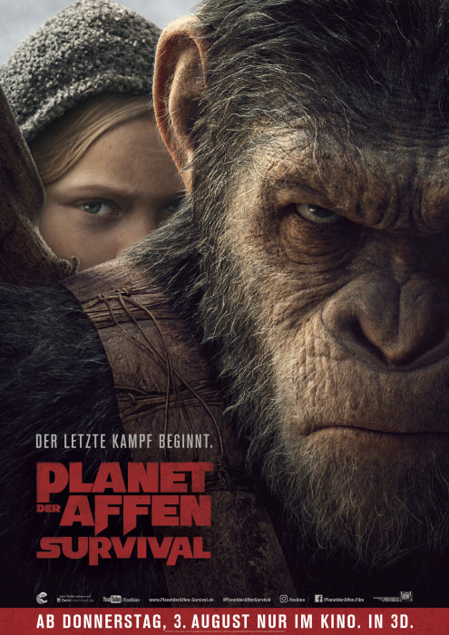 """Filmplakat zu """"Planet der Affen: Survival""""   Bild: Fox"""