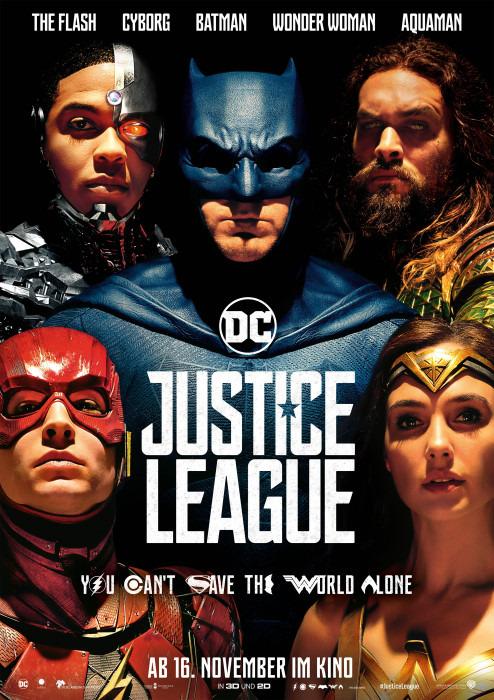 "Filmplakat zu ""Justice League"" | Bild: Warner"