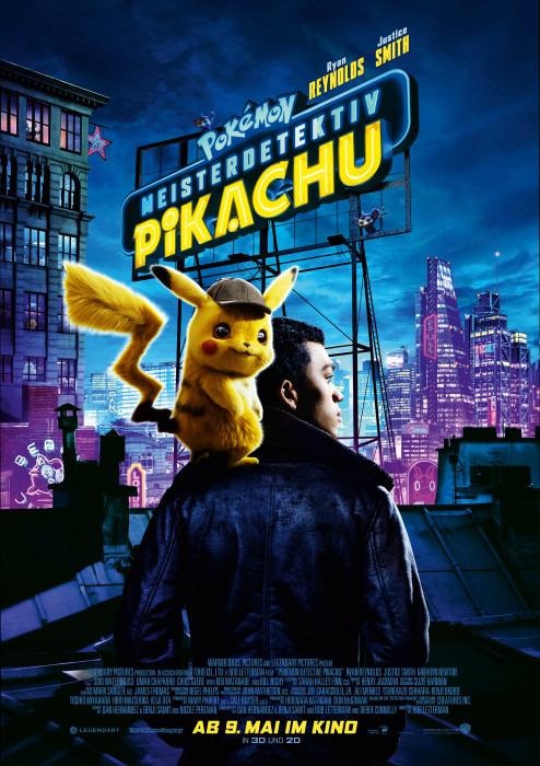 "Filmplakat zu ""Pokémon Meisterdetektiv Pikachu"" | Bild: Warner"