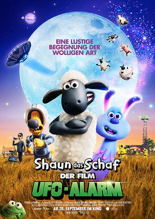 "Filmplakat zu ""Shaun das Schaf: UFO-Alarm"" | Bild: StudioCanal"