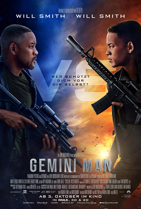 "Filmplakat zu ""Gemini Man"" | Bild: Paramount"
