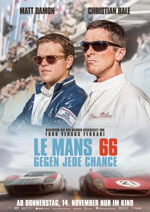 "Filmplakat zu ""Le Mans 66"" | Bild: Disney"