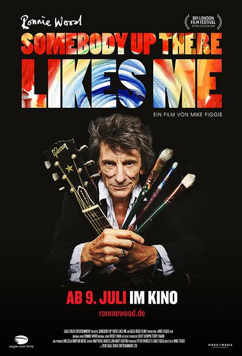 "Filmplakat zu ""Ronnie Wood: Somebody up there likes me "" | Bild: Filmagentinnen"