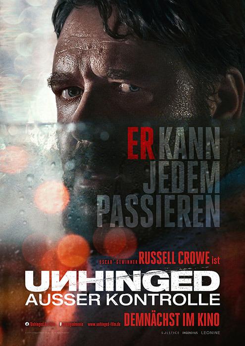 """Filmplakat zu """"Unhinged""""   Bild: Leonine"""
