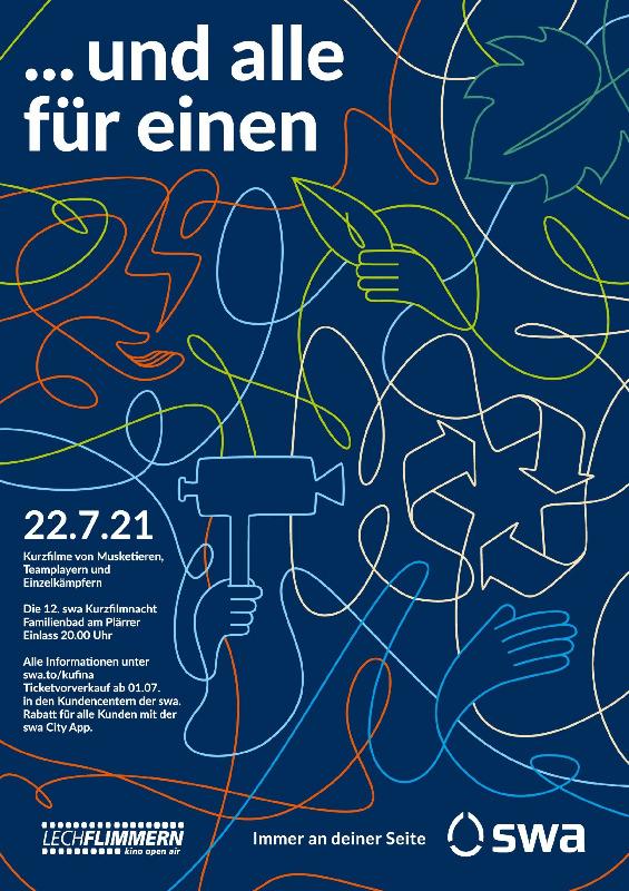 "Filmplakat zu ""swa Kurzfilmnacht 2021"" | Bild: swa"