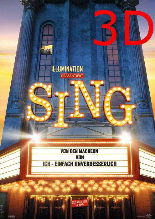 "Filmplakat zu ""Sing"" | Bild: UPI"